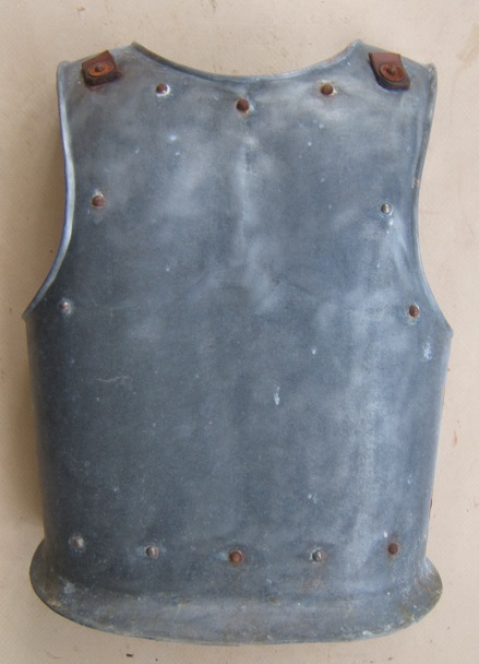 A GOOD & DECORATIVE 19th CENTURY VICTORIAN PERIOD COPY OF A 16TH CENTURY GERMAN BACKPLATE, ca. 1900 front