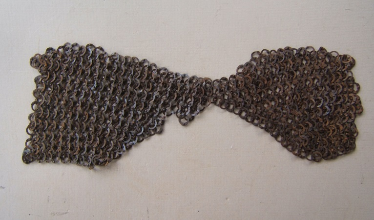 A FINE UNTOUCHED SECTION (TASSET?) of 17TH CENTURY EUROPEAN RIVETED CHAIN-MAIL, ca. 1620 front