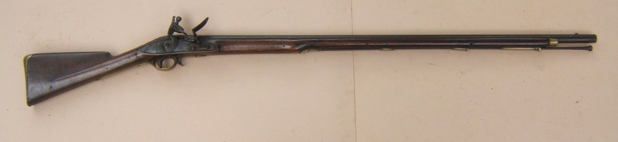 "A FINE & VERY RARE FLORIDA & GEORGIA USED REVOLUTIONARY WAR REGIMENTALLY MARKED ""16th REGIMENT"" OF FOOT SECOND MODEL/SHORTLAND PATTERN 1777 BROWN BESS MUSKET, ca. 1778/9 view 1"