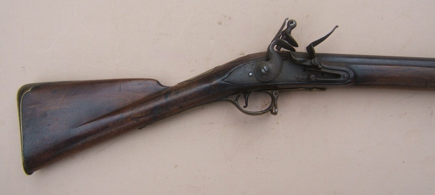 A VERY GOOD & SCARCE AMERICAN REVOLUTIONARY PATTERN 1768 SECOND MODEL/SHORTLAND BROWN BESS MUSKET, ca. 1770 view 3