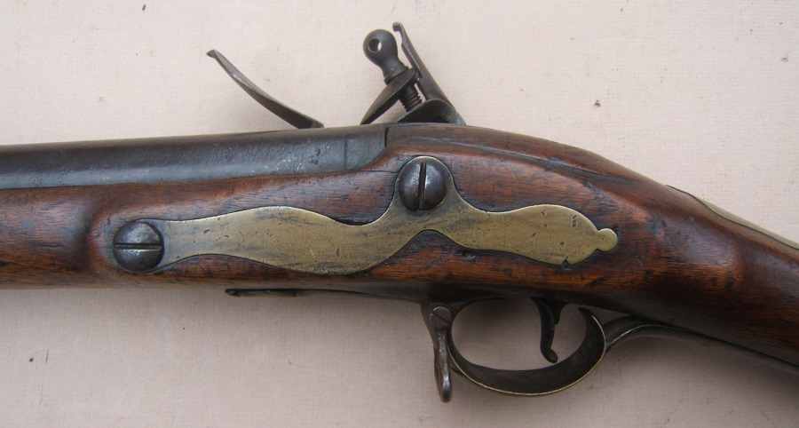 A VERY GOOD & SCARCE AMERICAN REVOLUTIONARY PATTERN 1768 SECOND MODEL/SHORTLAND BROWN BESS MUSKET, ca. 1770 view 5