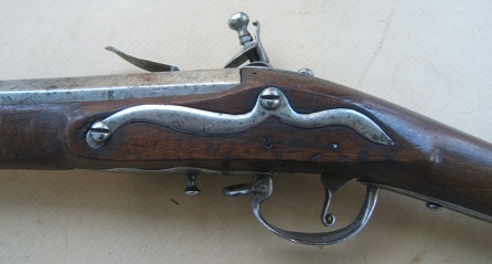 "A FINE COLONIAL/AMERICAN REVOLUTIONARY WAR PERIOD DUTCH-GERMANIC TYPE FLINTLOCK MUSKET, by ""AUBERT"", ca. 1750 view 4"