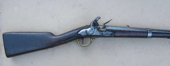A RARE REVOLUTIONARY WAR PATTERN FRENCH MODEL 1777 SADDLE RING HUSSAR'S CAVALRY CARBINE, dtd. 1783/5 view 1