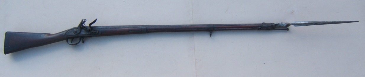 A FINE WAR OF 1812 PERIOD US NAVAL MODEL 1797 SHIP'S MUSKET W/ ITS ORIGINAL BAYONET, ca. 1800 view 1