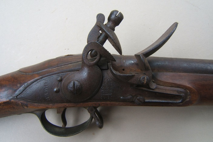A VERY GOOD WAR OF 1812/NAPOLEONIC PERIOD (P. 1809) THIRD MODEL BROWN BESS MUSKET, ca. 1810 view 3