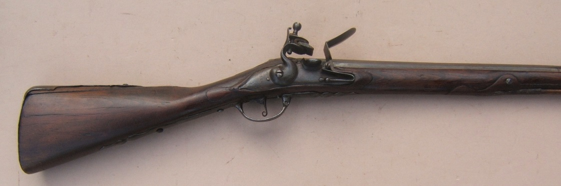 A VERY FINE & EARLY COLONIAL/AMERICAN REVOLUTIONARY WAR PERIOD DUTCH MUSKET, ca. 1710-1720 view 5