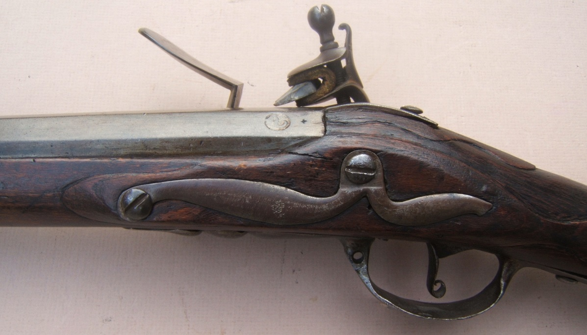 A VERY FINE & EARLY COLONIAL/AMERICAN REVOLUTIONARY WAR PERIOD DUTCH MUSKET, ca. 1710-1720 view 7