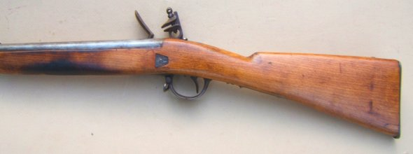 A VERY FINE MID/LATE 19TH CENTURY BELGIAN? BACK ACTION FLINTLOCK AFRICAN TRADE GUN, ca. 1870-1900 view 2