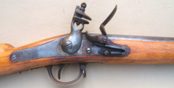 A VERY FINE MID/LATE 19TH CENTURY BELGIAN? BACK ACTION FLINTLOCK AFRICAN TRADE GUN, ca. 1870-1900 view 3