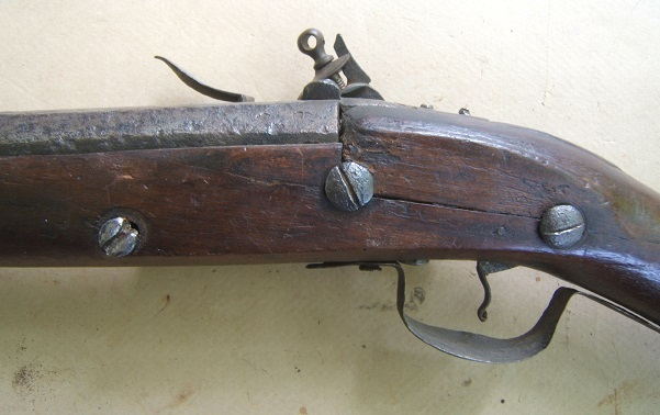 A VERY RARE ENGLISH CIVIL WAR/EARLY COLONIAL AMERICAN PERIOD ENGLISH DOGLOCK MUSKET, ca. 1650 view 5