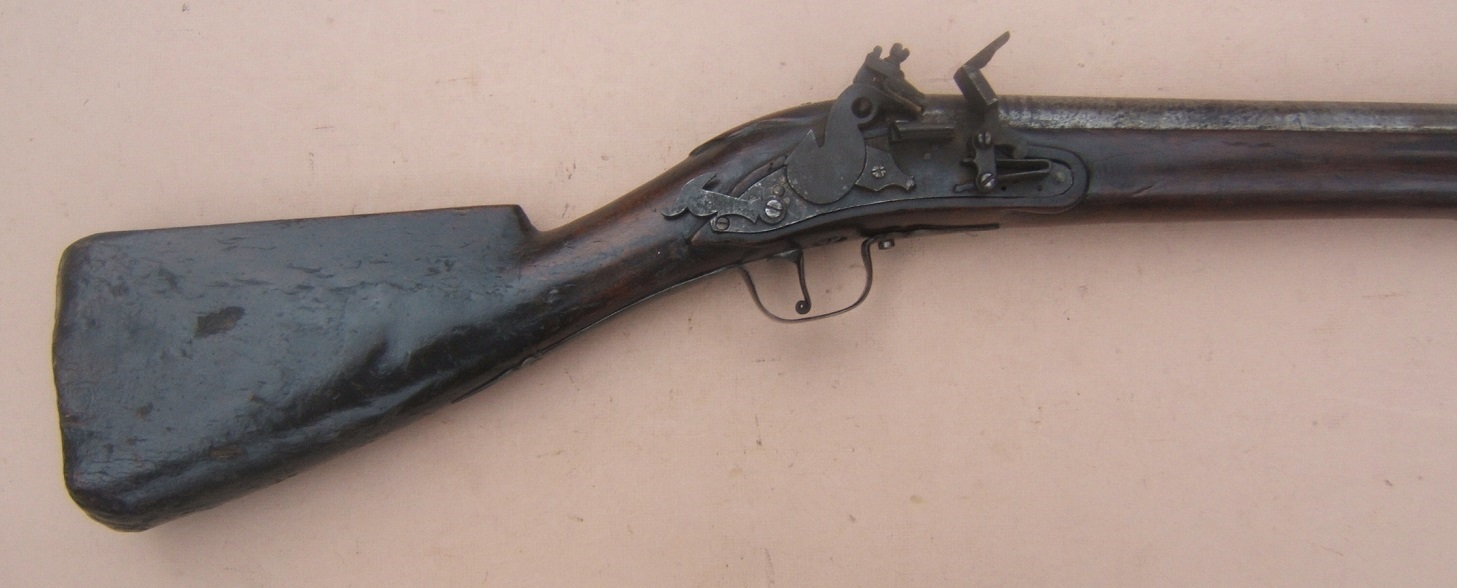 A VERY RARE ENGLISH/EARLY COLONIAL AMERICAN PERIOD ENGLISH DOGLOCK MUSKET, ca. 1650 view 4