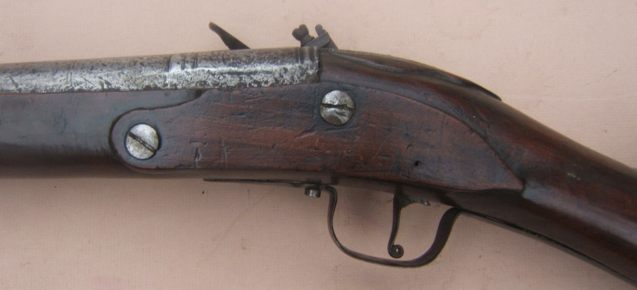 A VERY RARE ENGLISH/EARLY COLONIAL AMERICAN PERIOD ENGLISH DOGLOCK MUSKET, ca. 1650 view 7