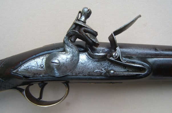 A VERY GOOD GEORGIAN-COLONIAL/FRENCH & INDIAN WAR PERIOD ENGLISH FLINTLOCK FOWLER, by WILLIAM HENSHAW, ca. 1750 view 3
