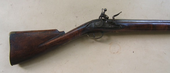 A FINE COLONIAL/FRENCH & INDIAN WAR PERIOD TIGER MAPLE STOCK HUDSON VALLEY LONG FOWLER, ca. 1750 view 1