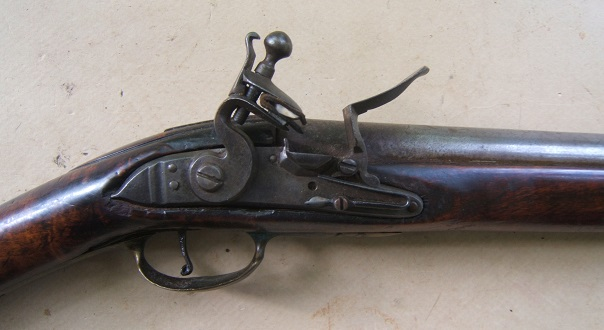 A FINE COLONIAL/FRENCH & INDIAN WAR PERIOD TIGER MAPLE STOCK HUDSON VALLEY LONG FOWLER, ca. 1750 view 3