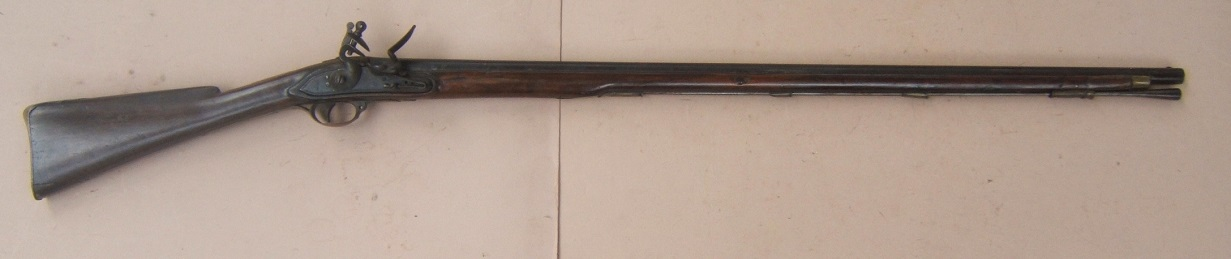 "A VERY GOOD ""I.D."" MAKER SIGNED AMERICAN REVOLUTIONARY WAR PERIOD AMERICAN-MADE MUSKET, ca. 1770s view 1"