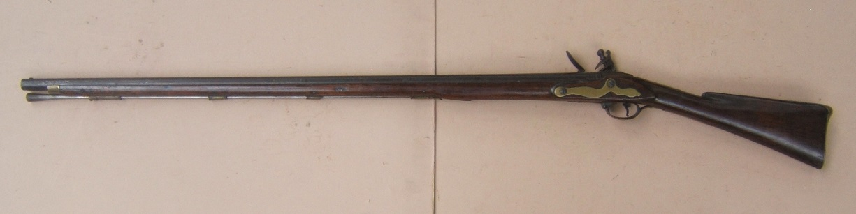 "A VERY GOOD ""I.D."" MAKER SIGNED AMERICAN REVOLUTIONARY WAR PERIOD AMERICAN-MADE MUSKET, ca. 1770s view 2"