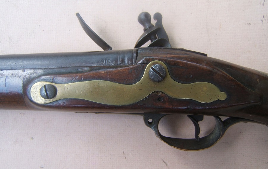 "A VERY GOOD ""I.D."" MAKER SIGNED AMERICAN REVOLUTIONARY WAR PERIOD AMERICAN-MADE MUSKET, ca. 1770s view 4"
