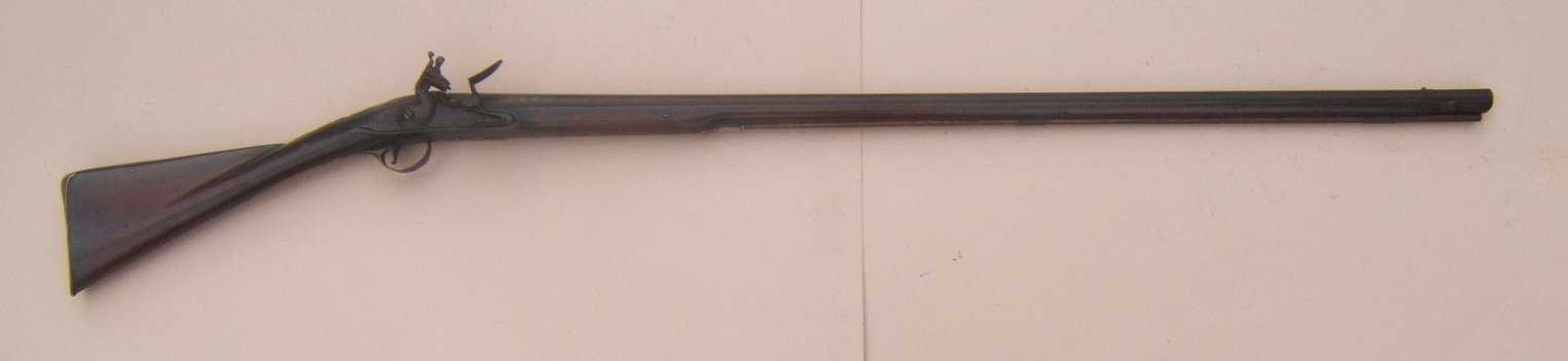 A FINE GEORGIAN/COLONIAL PERIOD ENGLISH/IRISH FLINTLOCK OFFICER'S FOWLER, by F. LORD, ca. 1750 view 1