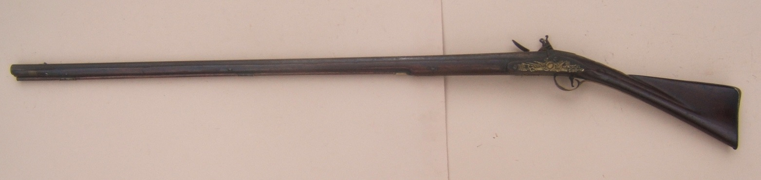 A FINE GEORGIAN/COLONIAL PERIOD ENGLISH/IRISH FLINTLOCK OFFICER'S FOWLER, by F. LORD, ca. 1750 view 2