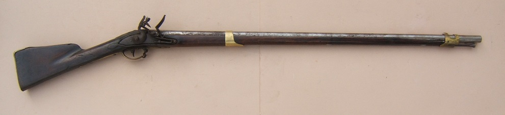 A VERY SCARCE (NEW HAMSPHIRE?) BATTALION MARKED COLONIAL/AMERICAN REVOLUTIONARY WAR PERIOD DUTCH MUSKET, ca. 1750 view 1