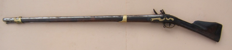 A VERY SCARCE (NEW HAMSPHIRE?) BATTALION MARKED COLONIAL/AMERICAN REVOLUTIONARY WAR PERIOD DUTCH MUSKET, ca. 1750 view 2