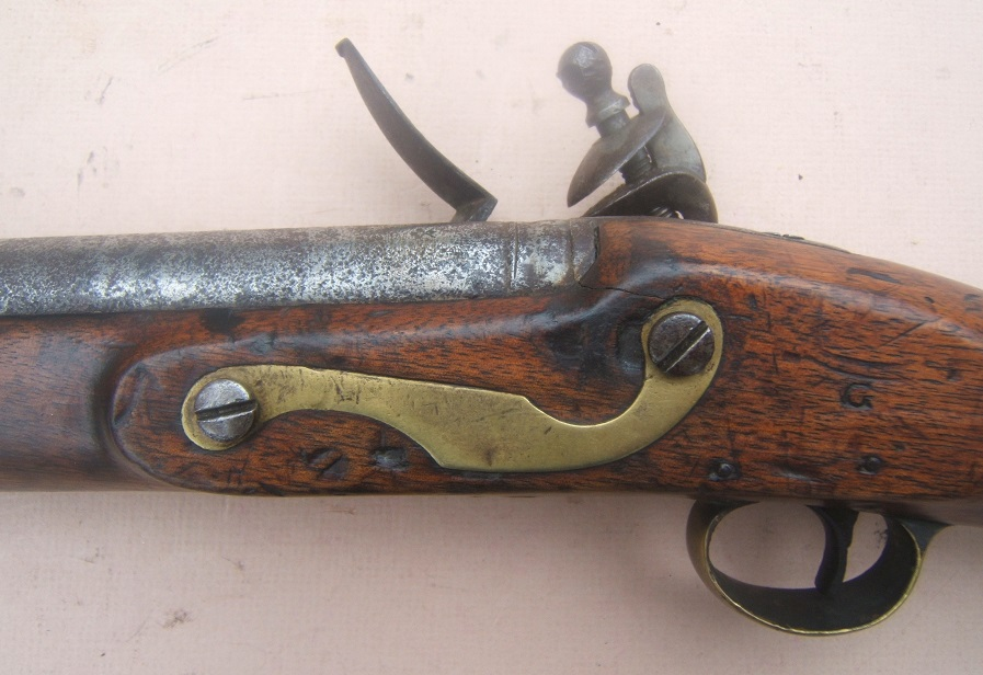 A VERY GOOD WAR of 1812/NAPOLEONIC PERIOD PAGET-TYPE ENGLISH FLINTLOCK CAVALRY CARBINE, ca. 1815 view 4