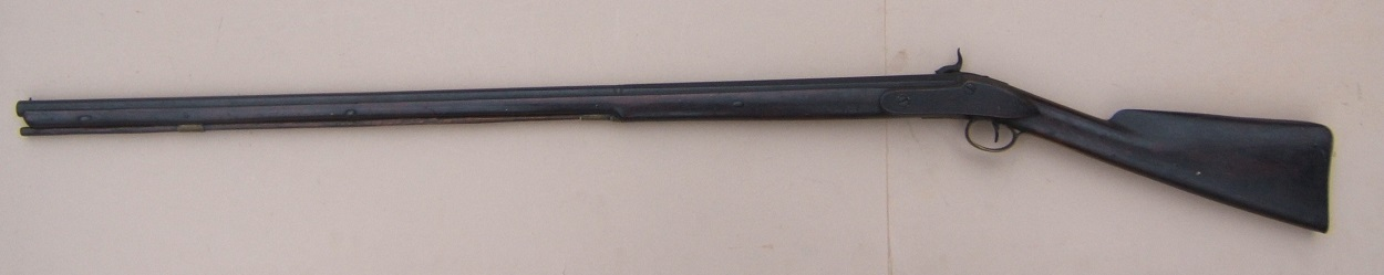 "A VERY GOOD UNTOUCHED PERCUSSION CONVERTED ""TRADE GUN TYPE"" FOWLER, by ""R. PERRY"", ca. 1820 view 2"