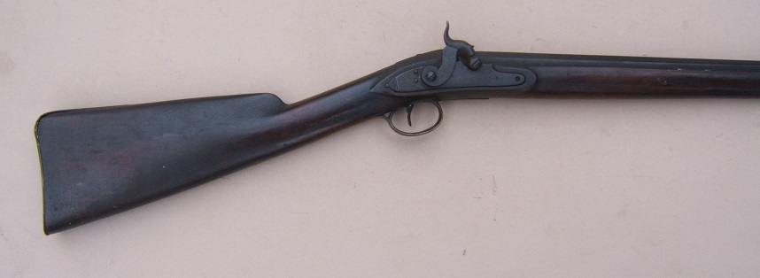 "A VERY GOOD UNTOUCHED PERCUSSION CONVERTED ""TRADE GUN TYPE"" FOWLER, by ""R. PERRY"", ca. 1820 view 5"