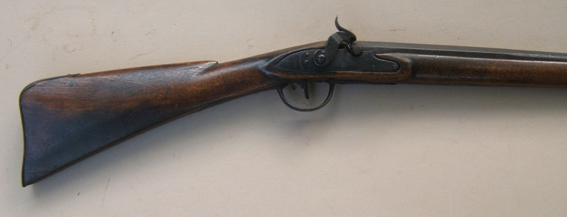 "A FINE & EARLY HUDSON BAY CO. ""BARNETT"" NORTH WEST TRADE GUN, Dtd. 1812 & BRASS TACK-DECORATED POWDER HORN, ca. 1800 view 4"