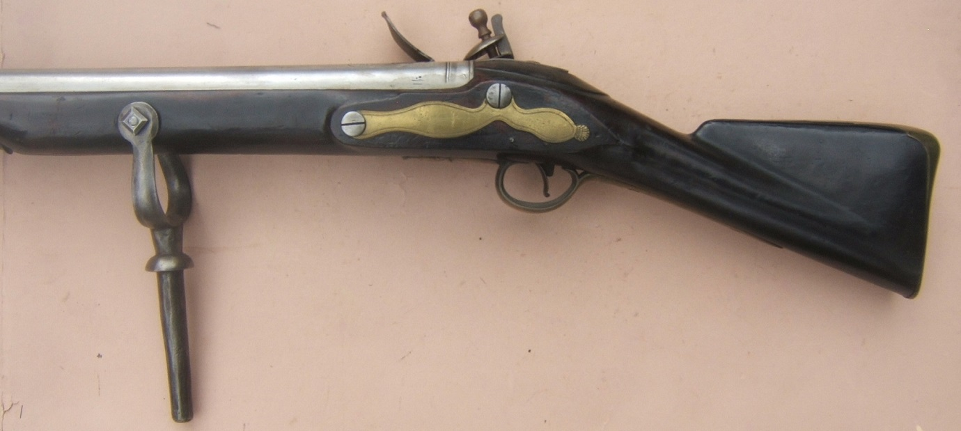 "A VERY RARE & EXCELLENT/MUSEUM CONDITION NAPOLEONIC WAR PERIOD PATTERN 1778 BROWN BESS RAMPART/WALL GUN by ""RICHARD WILSON"", Dtd. 1793/4 view 7"