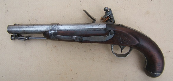 A FINE+ R. JOHNSON US Mdl. 1836 FLINTLOCK PISTOL, Dtd. 1837view 2