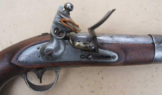 A FINE+ R. JOHNSON US Mdl. 1836 FLINTLOCK PISTOL, Dtd. 1837 view 3