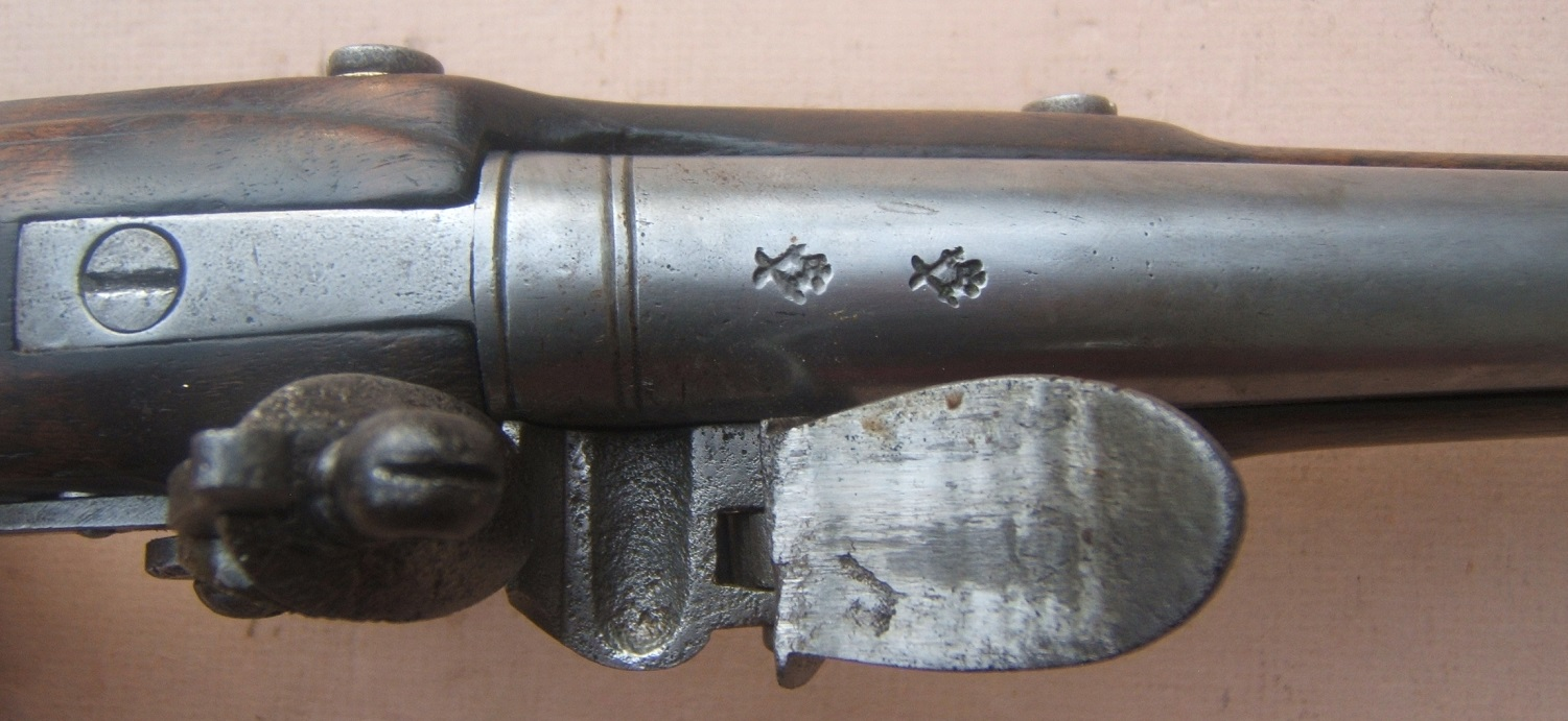 "A VERY GOOD NAPOLEONIC/WAR OF 1812 PERIOD ENGLISH LIGHT PATTERN DRAGOON FLINTLOCK PISTOL, by ""BLAIR"", ca. 1805 view 4"