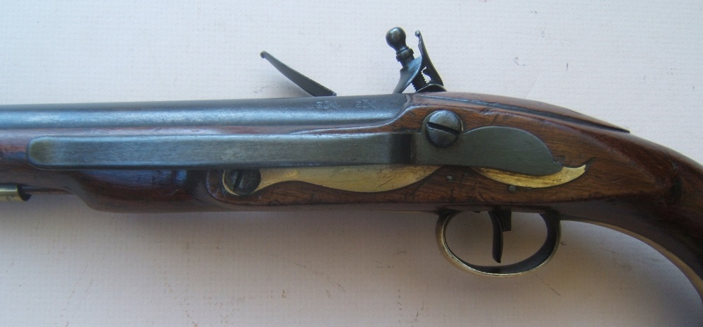 "A VERY FINE & SCARCE FRENCH & INDIAN/AMERICAN REVOLUTIONARY WAR PERIOD ENGLISH NAVAL/SEA SERVICE PISTOL, by ""COLLUMBELL"" ca. 1760 view 4"