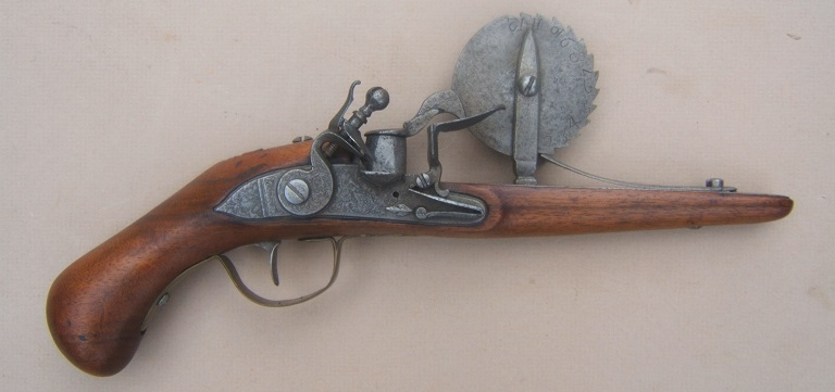 A VERY FINE & RARE FRENCH FLINTLOCK EPROUVETTE/POWDER-TESTER, ca. 1720 view 1