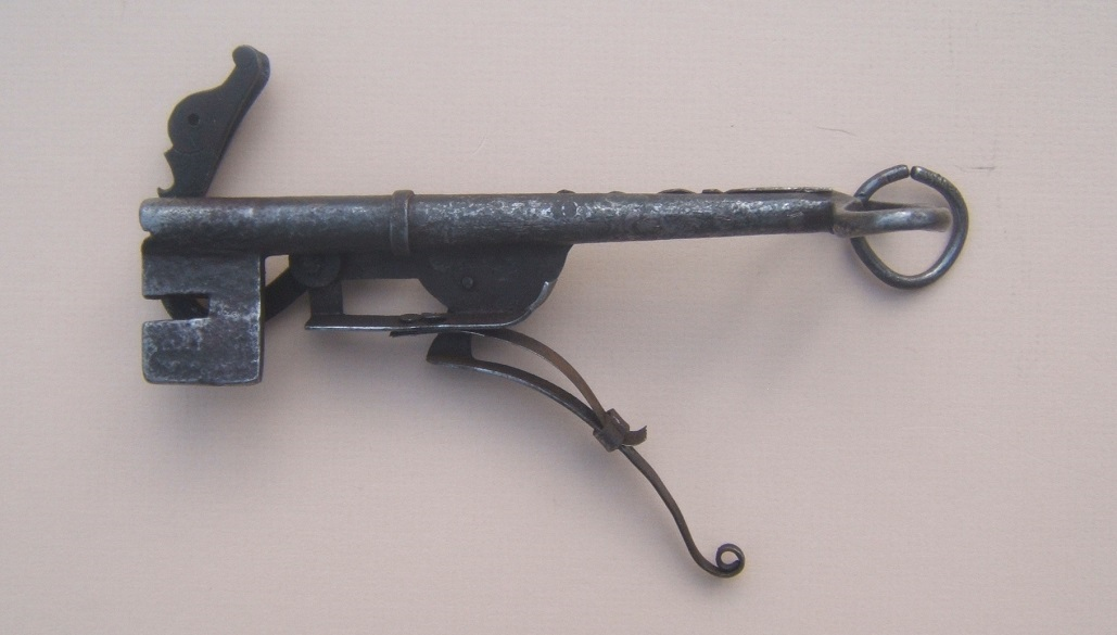 "A RARE & UNUSUAL EUROPEAN (GERMAN?) JAILER'S MATCHLOCK ""KEY PISTOL"