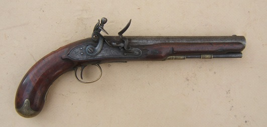 "A VERY GOOD+ WAR OF 1812/NAPOLEONIC PERIOD FLINTLOCK OFFICER'S PISTOL BY ""MANTON"", ca. 1805 view 1"