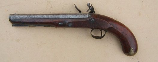"A VERY GOOD+ WAR OF 1812/NAPOLEONIC PERIOD FLINTLOCK OFFICER'S PISTOL BY ""MANTON"", ca. 1805 view 2"
