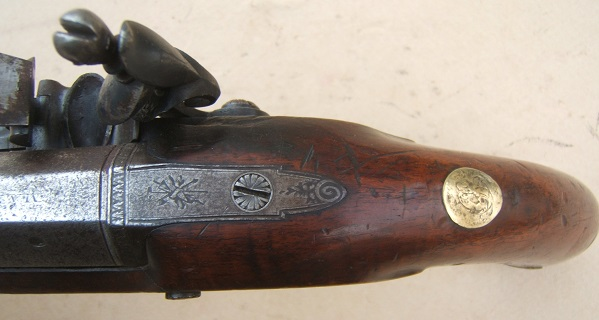 "A VERY GOOD+ WAR OF 1812/NAPOLEONIC PERIOD FLINTLOCK OFFICER'S PISTOL BY ""MANTON"", ca. 1805 view 4"