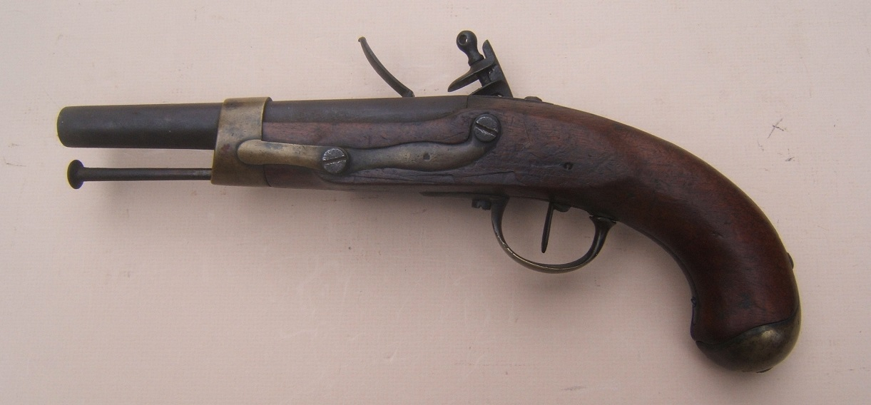 "A VERY GOOD+ UNTOUCHED NAPOLEONIC WAR PERIOD FRENCH/GERMAN MODEL AN XIII FLINTLOCK PISTOL, by ""PISTOR"", ca. 1813-1814 view 2"