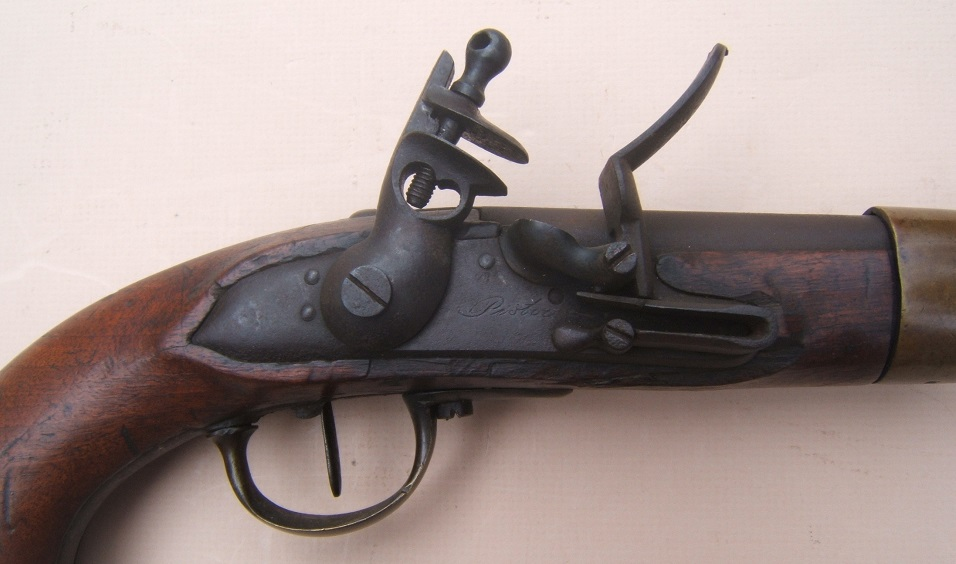 "A VERY GOOD+ UNTOUCHED NAPOLEONIC WAR PERIOD FRENCH/GERMAN MODEL AN XIII FLINTLOCK PISTOL, by ""PISTOR"", ca. 1813-1814 view 3"