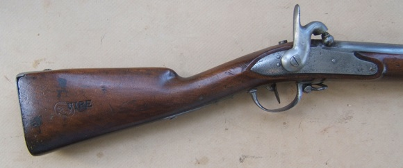 A FINE CIVIL WAR PERIOD/IMPORT FRENCH MODEL 1822 INFANTRY MUSKET, Dtd. 1819/1861 view 1