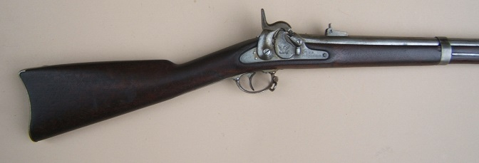 "A FINE US MODEL 1855 ""SPRINGFIELD"" RIFLED MUSKET, dtd. 1858 view 1"