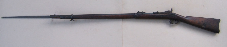 A VERY GOOD US MODEL 1879 TRAPDOOR SPRINGFIELD RIFLE & BAYONET, ca. 1880 view 2