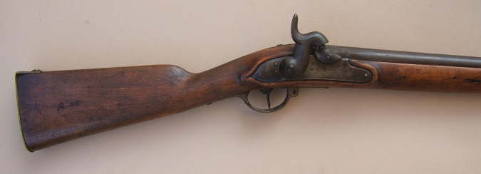 A VERY GOOD CIVIL WAR PERCUSSION CONVERTED PRUSSIAN MODEL 1809/1812 INFANTRY MUSKET, ca. 1828/1840s: view 1