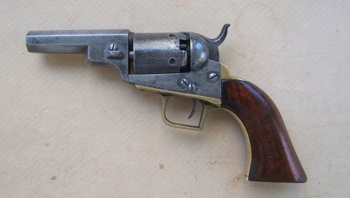 "A VERY GOOD+ & EARLY COLT MODEL 1848 ""BABY DRAGOON"" POCKET PISTOL, Manuf. in 1847 view 1"