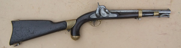 A VERY GOOD ALL-MATCHING COLT THIRD MODEL DRAGOON CUT FOR SHOULDER-STOCK w/ HOLSTER, SN. 16,XXX, ca. 1850s view 1