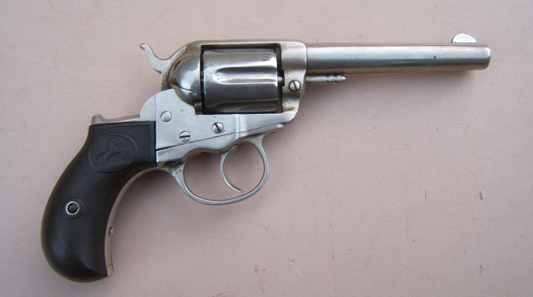 "AN EARLY VERY FINE AMERICAN WESTERN FRONTIER/""COWBOY"" ERA COLT MODEL 1877 DOUBLE-ACTION ""LIGHTNING"" REVOLVER, Manuf. in 1878 view 1"