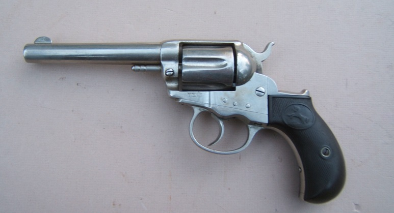"AN EARLY VERY FINE AMERICAN WESTERN FRONTIER/""COWBOY"" ERA COLT MODEL 1877 DOUBLE-ACTION ""LIGHTNING"" REVOLVER, Manuf. in 1878 view 2"